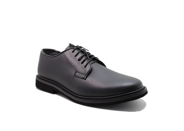 Ceremonial All Leather Police Men Shoes With Smooth Genuine Leather Comfortable