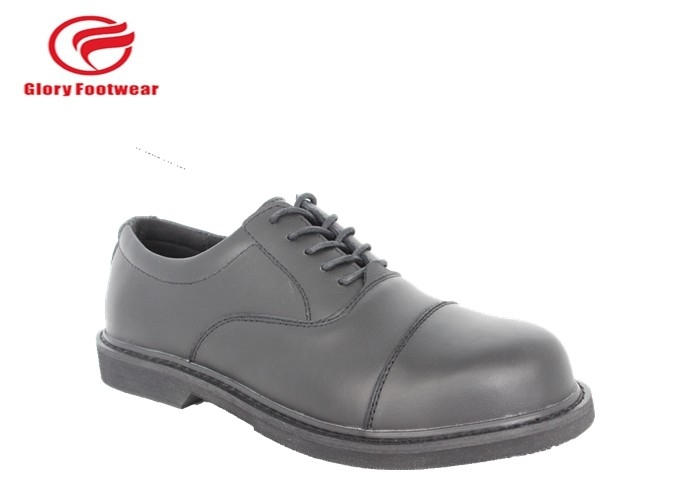 Office Tactical Oxford Mens Police Leather Shoes Fashion Black Abrasion Resistant