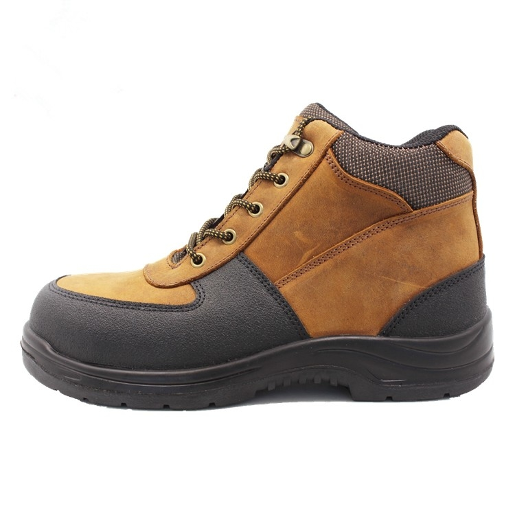 wheat nubuck leather with black rubber for work boots for man